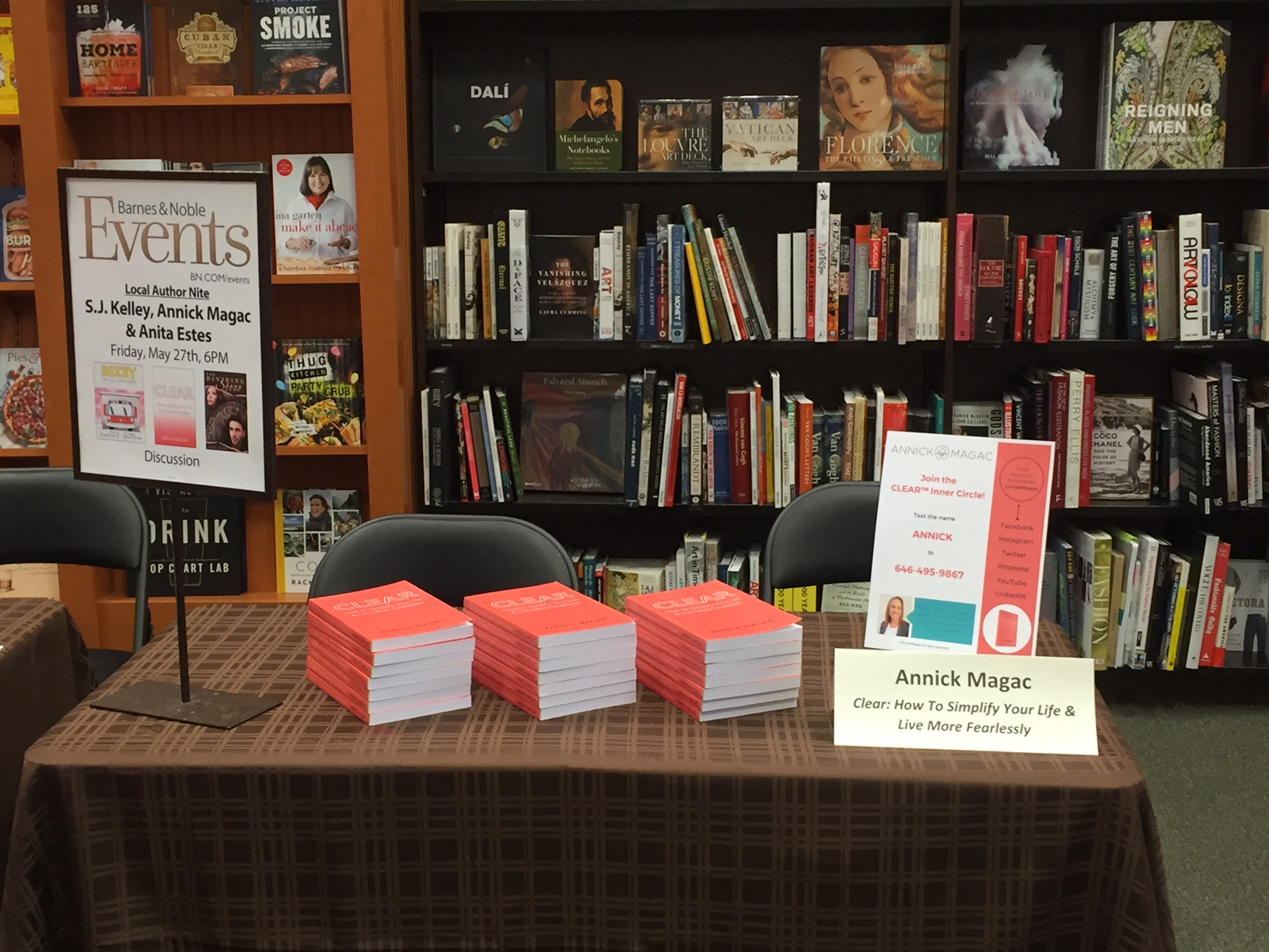 Barnes & Noble Book Signing - Annick Magac